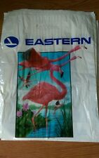 12 Vintage  Eastern Airlines Plastic Shopping Carry all Bag dozen Flamingos new