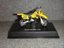 "Suzuki Rm 125~Model Dirt Road Bike~Motorcycle~Yellow /Black/Silver~2.5"" x 1.5"""