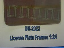 Detail Master 2023 x 1/24 License Plate Frames