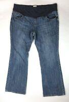 Old Navy Full Panel Maternity Womens XL Long Stretch Blue Denim Jeans 22-28x33