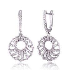 DESIGNER MSRP $199 18kt Gold over S925 Earrings w/SYN Diamonds Ge-00515A