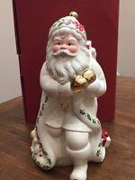 LENOX Holiday Santa Collection Ceramic Cookie Jar NWT