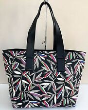 PAUL SMITH GRAINED LEATHER ROWAN LEAF PRINT TOTE BAG RETAIL £595