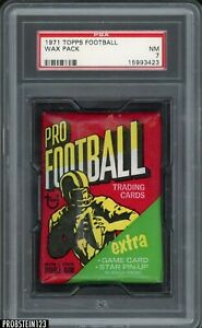 1971 Topps Football Unopened Sealed Wax Pack PSA 7 NM