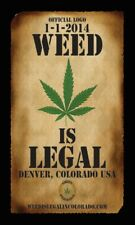 Official Logo Weed Is Legal In Colorado Collector'S Poster'S