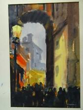Vintage J.Alvin Storck Watercolor Painting Original Chicago Wheaton IL Art Old