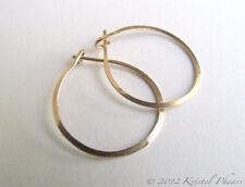 """Solid 14K Gold Hoops - small hoop earrings 3/4"""" .75"""" (18mm 20mm)  dia."""