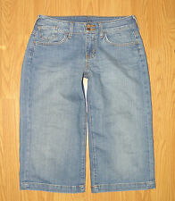 Women's APT. 9 Zip FLy Stretch Mid-Rise Wide Leg Denim Gauchos/Shorts Sz 4! EUC!