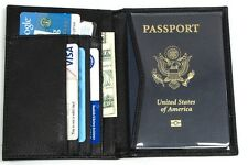 2pc Lot RFID Blocking Genuine Leather Passport ID Organizer Wallet Safe Travel