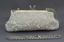 New beaded sequins evening handbag/purse/clutch Colour: White #4