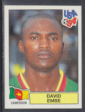 Panini - USA 94 World Cup - # 139 David Embe - Cameroun (Green Back)
