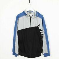 Vintage BILLABONG Big Logo Zip Up Hoodie Sweatshirt Grey | Small S