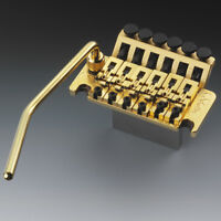 Genuine Schaller Floyd Rose Tremolo Bridge 42mm Block R2 Nut, Gold