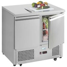 ESL 900 STAINLESS STEEL GASTRONORM PREPERATION COUNTER FRIDGE & FREE DELIVERY!