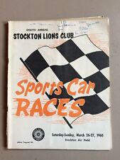 Vintage 1960 8th Annual Stockton Road Race SCCA Racing Program