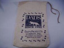 "Dads Pet Food Cloth Bag since 1933 9"" x 16""  new     #531"