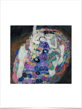 GUSTAV KLIMT THE VIRGIN LIMITED EDITION BIG BORDERS ART PRINT 18X24 blue female