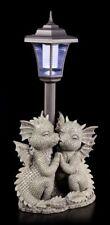 Dragón Figura de jardín con Lámpara Solar - Loving - Linterna Fantasía