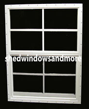 Shed Window 21x27 White Flush Safety Glass Playhouse Treehouse Chicken Coop