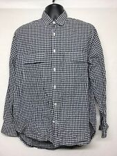 OUR LEGACY Men's checked long sleeved Casual  with Front 2 Pockets Shirt Size 48