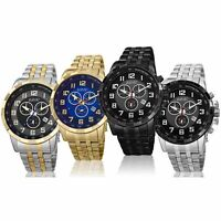 Men's August Steiner AS8118 Chronograph Multifunction Date Stainless Steel Watch