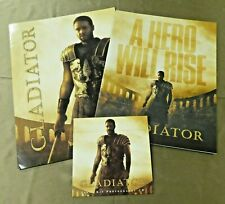 Gladiator Movie Press Kit Russel Crowe Joaquin Phoenix Folder Booklet CD
