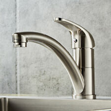 Kitchen Fixed Faucet-Long Mouth Brushed Finish