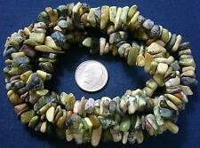 """34"""" Yellow turquoise (jasper) chip bead strand small to med size 6-10mm bs050"""