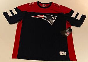 OTS NFL Brand New England Patriots Big Logo Team Jersey T-shirt Mens XL AFC