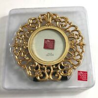 """Russ Gold Color Scroll  Picture Frame 3""""X3""""New"""