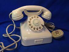 Telefono da tavolo in bachelite BIANCO anni 40 modello Siemens