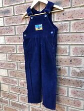 Vintage Navy Blue Corduroy Size 2 Overalls Coveralls Dungarees Immaculate
