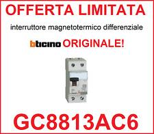 Interruttore magnetotermico differenziale salvavita BTICINO ORIGINALE GC8813AC6