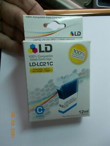 Sealed LD Products LD-LC21C 12 ML Cyan Ink Cartridge for Brother Use b4 01/09