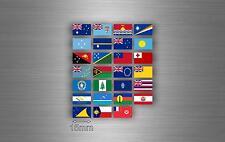 Planche autocollant sticker drapeau pays rangement classement oceanie r2 timbre