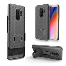Samsung Galaxy S9 Wave Slim Slide Hard Shell Belt Clip Holster Case Black