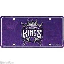 SACREMENTO KINGS TEAM LOGO NBA BASKETBALL METAL LICENSE PLATE MADE IN USA