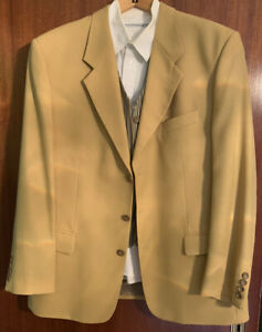 Blazer Sakko Gr. 56 Jacket und Weste absolut neuwertig Curry Streifen gestreift