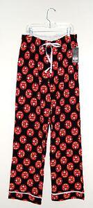 NWT Disney Luxe Women's Black Mickey Mouse Cotton Blend Knit Lounge Pants sz S
