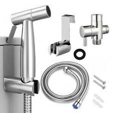 RENIST Handheld Bidet Sprayer Set with Adjustable Water Pressure Control - Silver (0781621472895)