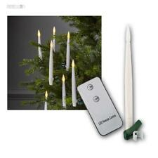 Set of 10 LED Christmas Candles Cordless Tree Candles, Wireless Holiday Lights