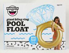 "Big Mouth Giant Bling Ring Pool Float Diamond Ring 62""x43""x23"" BRAND NEW"