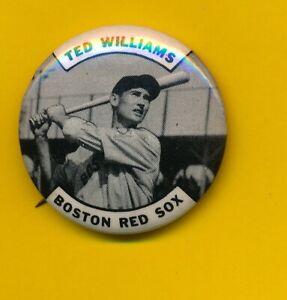 (2) Ted Williams (HOF) - 1950's Original Pinbacks - Boston Red Sox