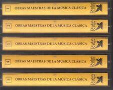 Clasica Obras Maestras De La Musica, Readers Digest, 5 Cassette Lot. pre-owned