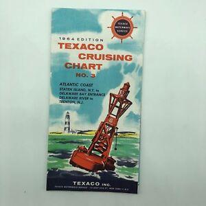 Atlantic Coast - Texaco Cruising Chart No. 3 - 1964