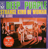 "DEEP PURPLE ITALY PS 7"" STRANGE KIND OF WOMAN MEGARARE 45 GIRI -  I'M ALONE"