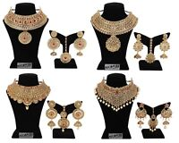 Set Indian Fashion Necklace Bollywood Gold Plated Bridal Wedding Earring Jewelry