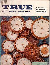 1957 True June - Watches; Harold von Schmidt; Albania's Zog; Man-eating tiger