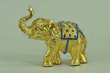Handcrafted bronze-sculpture SALE Zirconia Cubic With Elephant Vienna Miniature