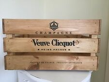 Large Wooden Veuve  Champagne Wine Crate Box Storage Shabby Chic Retro